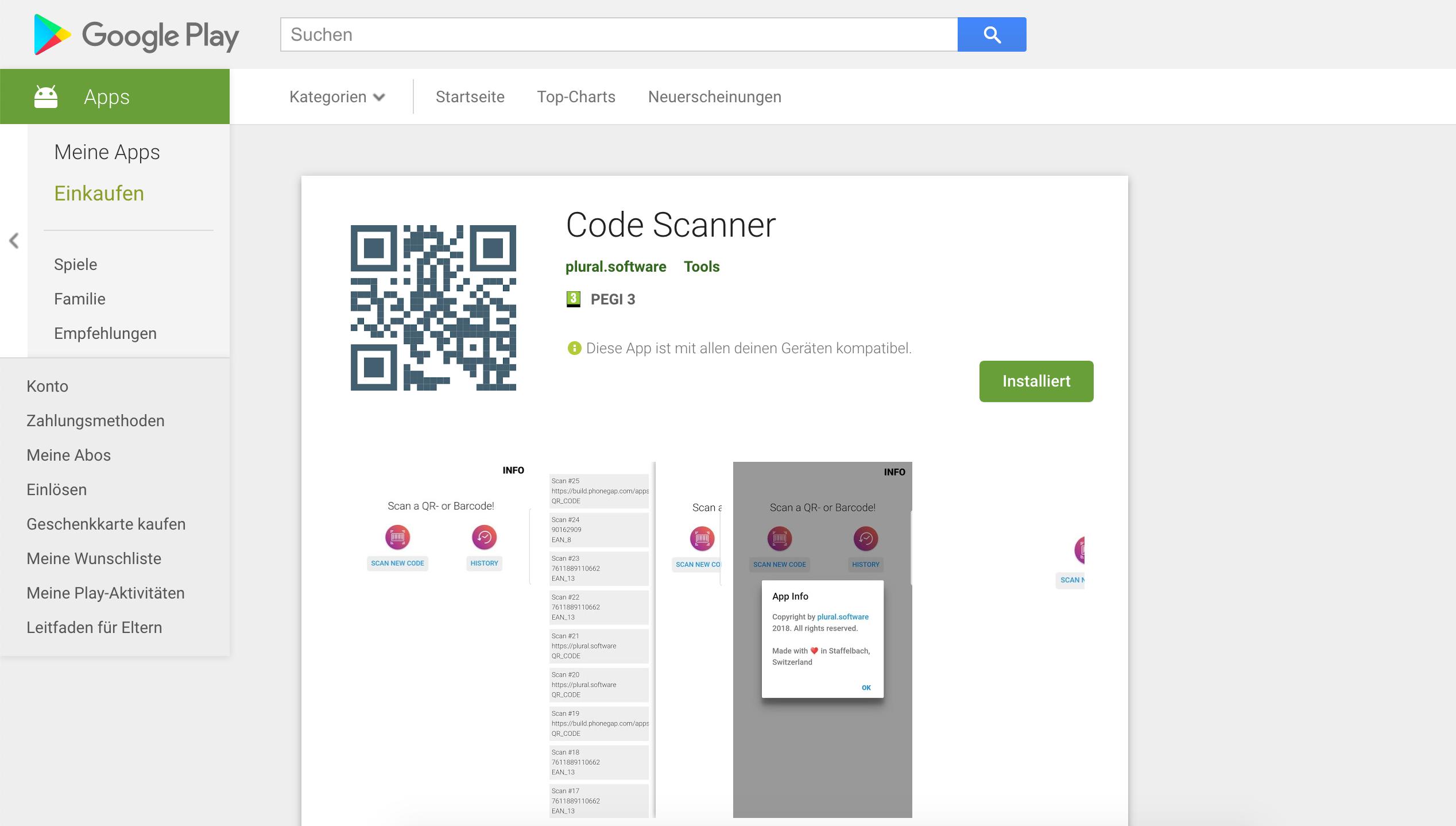 Erstes Dienstprogramm auf Google Play verfügbar